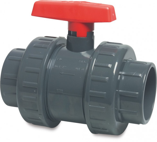 Ball valve with double union, type AK