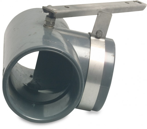 T-piece 90° with S/S manual operated valve
