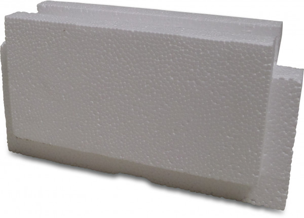 End piece for pool building brick